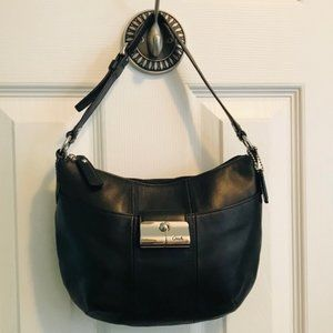 Coach Leather Black Hobo Small Purse
